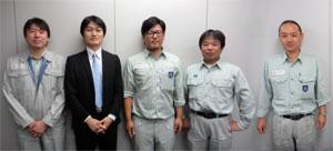 左から、大野執行委員 小山執行委員長 高野書記長 茂木執行委員、川俣副委員長