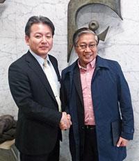 日建協田中議長と ユソンBWI本部書記長